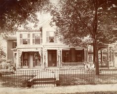This home on Market Avenue in Canton, Ohio was the site of William McKinley's famous Front Porch Campaign.  The house was demolished in the 1930s.