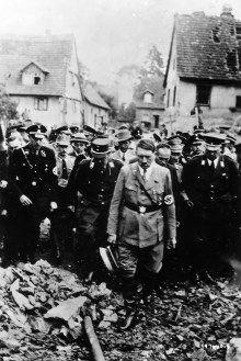 Adolf Hitler tours Destruction of Oeschelbronn, Germany