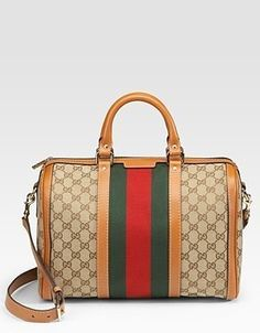 Gucci Medium Boston Bag - Beige-Cocoa