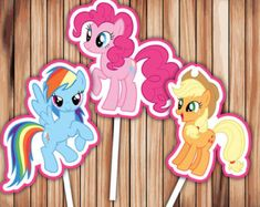 My Little Pony Cupcake Toppers Party Decor Printable Digital Birthday cupcake toppers - INSTANT Download