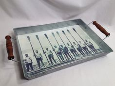 Vintage Metal Tray with Sailor Men by vintapod on Etsy, $13.50