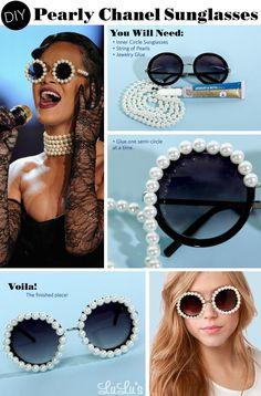 DIY Rihannas Pearly Chanel Sunglasses DIY Refashion DIY Sunglasses