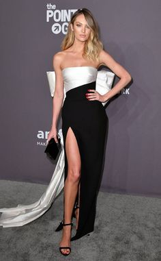 Candice Swanepoel from 2019 amfAR Gala New York: Red Carpet Fashion Candice Swanepoel de 2019 amfAR Gala Nova York: moda no tapete vermelho Kim Kardashian Vestidos, Kourtney Kardashian, Mode Glamour, Fashion Glamour, Red Carpet Gowns, Best Red Carpet Dresses, Red Carpet Hair, Green Carpet, Looks Black