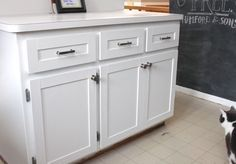 Adding+Molding+to+Kitchen+Cabinet+Doors   Kitchen Cabinet Update   Drew & Vanessa                                                                                                                                                                                 More