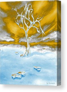 Canvas Print, clouds,sky,sunlight,sunshine,tree,bare,dead,stones,rocks,heavenly,skyscape,life,surreal,fantasy,dreamy,magical,whimsical,mystical,mystery,world,solitude,solitary,loneliness,meditation,imagination,peaceful,tranquile,afterlife,white,blue,gold,contemporary,modern,decor,on,in,of,with,above,over,the,fine,art,mixed,media,digital,painting,artworks,products,items,for sale,online,fine art america