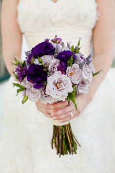 Purple Wedding Flowers beautiful vintage bouquets - Today I bring you some purple wedding bouquet inspiration! Hope you're inspired and find something that you like……. This beauty here has to be my favourite out of them all. Lavender Bouquet, Purple Wedding Bouquets, Lilac Wedding, Bride Bouquets, Wedding Colors, Floral Wedding, Dream Wedding, Flower Bouquets, Lavender Flowers