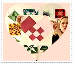 Video: Woven Heart Quilt Block - sew-whats-new.com