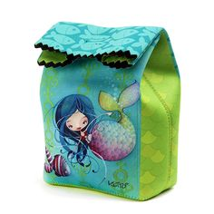 Sac à collation Ketto - Sirène / Ketto's lunch bag - Mermaid  www.kettodesign.com