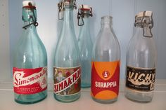 Vintage Country, General Store, Vintage Recipes, Grocery Store, Finland, Soda, Nostalgia, Water Bottle, Retro