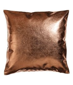 Check this out! Cushion cover with front section in imitation leather with metallic finish. Woven linen back section. Concealed zip at lower edge. Size 16 x 16 in. - Visit hm.com to see more. Copper Cushions, Metallic Cushions, Eclectic Decorative Pillows, Copper Decor, Leather Pillow, Leather Cushions, H&m Home, Fashion Room, Interior Design Inspiration