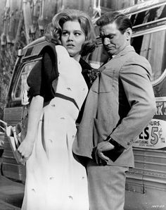 """Jane Fonda and Rod Taylor: Sunday in New York ... The famous """"meet-cute""""."""