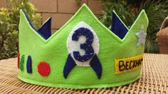 Buzz Lightyear Felt Birthday Crown by HedsThreads on Etsy