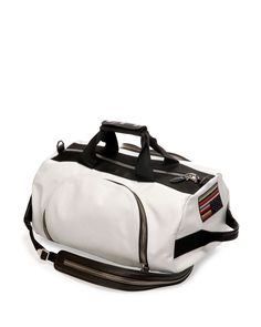 Leather Backpack/Duffle Bag, White by Givenchy at Neiman Marcus. Leather Duffle Bag, Duffel Bag, Backpack Bags, White Leather, Leather Men, Givenchy, Best Bags, Luxury Bags, Luggage Bags