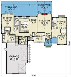 Garage Floor Plans, House Floor Plans, Home Room Design, House Design, Room Design Software, Room Above Garage, White Siding, Shed Dormer, Plan Front