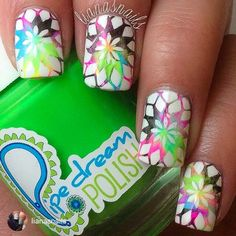 repost via @instarepost20 from @lianasnails Neon stamping!  these were so much fun to do. I used ANIVC from @pipedreampolish and stamped with my @moyou_london  Kaleidoscope 03 plate. I can't stop looking at these! They're just so fun! #instarepost20 www.pipedreampolish.com