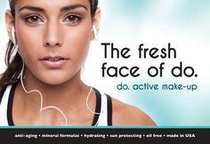 The fresh face of do. active make-up. #thefreshfaceofdo