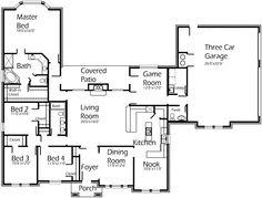 Plan Number:  S2507R  2507 Sqft  4Bedroom-2.5Bathroom-2LivingRoom