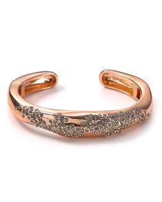 alexis bittar crystal encrusted rose gold hinge cuff