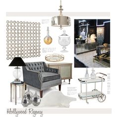 Hollywood Regency by hellodollface on Polyvore featuring polyvore interior interiors interior design home home decor interior decorating Arteriors hollywoodregency