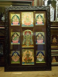 Pooja Room Designs and Decor for Gudi Padwa - Pooja Room and Rangoli Designs Silver Pooja Items, Pooja Mandir, Pooja Room Door Design, Puja Room, Tanjore Painting, Decorative Screens, Prayer Room, Indian Home Decor, Living Room Paint