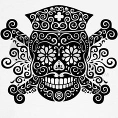 LOVE!!! If I were going to ever get a TAT it would be of this ~ nurse skull