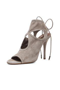 81c5239c561b Image 2 of Aquazzura Sexy Thing Suede Heels in Light Grey Suede Heels