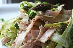 Salade de jambon et d'asperges