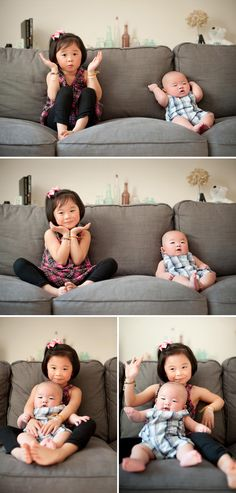 SO. CUTE. Little Brother Big Sister Portraits - via On To Baby