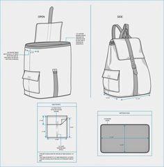 8cb7eda25 Te obsequiamos moldes y patrones para hacer una mochila de moda