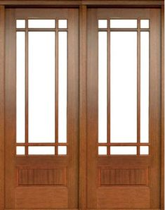 Mahogany Alexandria TDL 9 Lite Double Door