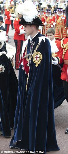 William was made a Knight of the Garter in 2008