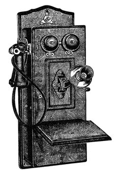 Here is a black and white clip art version of the phone. Description from olddesignshop.com. I searched for this on bing.com/images
