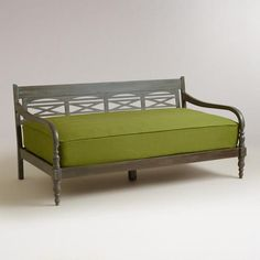 indonesian daybed frame world market paint and use as daybed for s add a cute bedskirt to. Black Bedroom Furniture Sets. Home Design Ideas