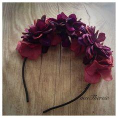 Blütenkranz * Marsala *, Haarschmuck von meiTherese by Ninnerl auf DaWanda.com