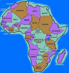 501 Best Maps - Africa & African Countries images   World maps ...