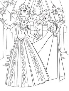 Anna frozen dress template to color