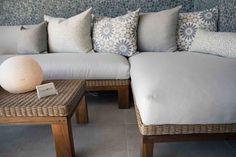 Outdoor - Furniture - Mokum - Fabric - Wicker - Teak legs