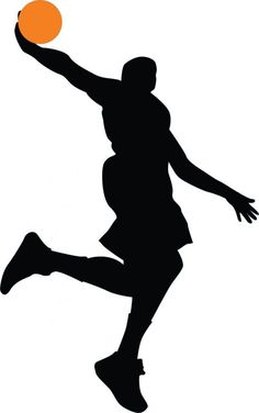 Basketball Player Silhouette - 61 : Custom Wall Decals, Wall Decal Art, and Wall Decal Murals | WallMonkeys.com