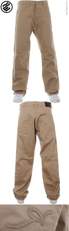 £78 Rocawear jeans i khaki farve med Rocawear logo ton-i-tone. Få dem lige nu til 585 dkkr.   www.123yo.dk