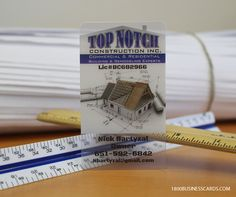 If you are in the construction industry this awesome set of should inspire your next business card design. Plastic Business Cards, Business Cards Online, Plastic Card, Business Card Design, Construction, Inspire, Awesome, Prints, Inspiration