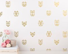 Unique Wall Decal Set Geometric Decals Gold Decor Wall Art Wall