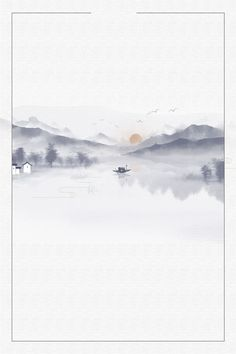 Zen Painting, Chinese Painting, Chinese Style, Chinese Art, Landscape Drawings, Landscape Paintings, Easy Watercolor, Watercolor Paintings, Pintura Zen
