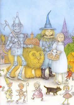 Wayne Anderson - illustration for Wizard of Oz Wayne Anderson, Illustration Art Nouveau, Harry Potter, Judy Garland, Illustrations, Wizard Of Oz, Childrens Books, Art For Kids, Book Art