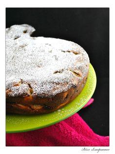 Birnenkuchen mit Quark und Mohn