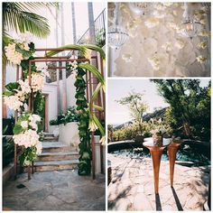 The entrance to the event included a custom floral sculpture by @marksgarden. Cocktails were served by the pool and our Shanghai Stand Up Tables fit in perfectly with the design. || Planner: Jonathan Reeves of @internationaleventco | Design/Rentals: @RevelryMatias for @revelryeventdesign | Florist: @marksgarden | Lighting: @thelightersidela | Linens: @wildflowerlinen @latavolalinen | Event Photography: #JosefIsayoPhotography | Decor Photography: @abbyross___ | Catering: @chefwolfgangpuck…