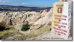 Trail marker, Cappadocia, Turkey