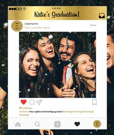 Custom Instagram Frame in Gold Photo Booth Prop Instagram Prop