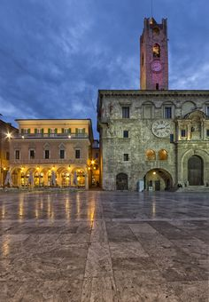 Piazze d'Italia: Ascoli Piceno, Marche, Italy                                                                                                                                                      More