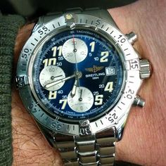 Breitling chronograph colt automatic with box and papers £1250 quick sale to clear stock.  #Breitling #breitlingwatch #chrono #navitimer #watchaddiction #watchdaily #cheapwatch #chronometer enquiries to Awcfollowups@aol.com