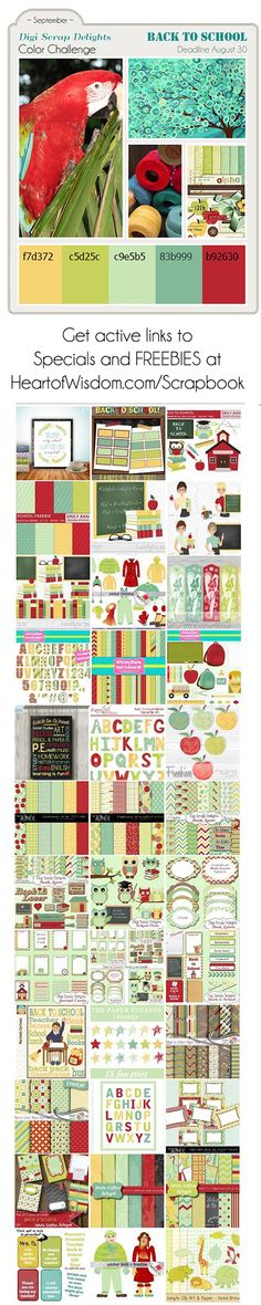InkBite Designs: Back to School Colour Challenge and Freebies